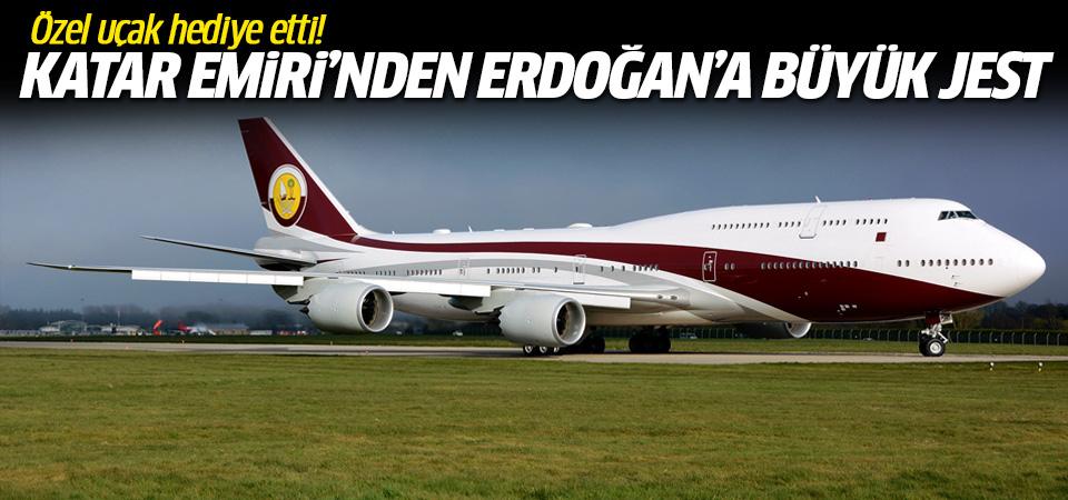 Katar Emiri'nin Başkan Erdoğan'a hediyesi: Özel uçak