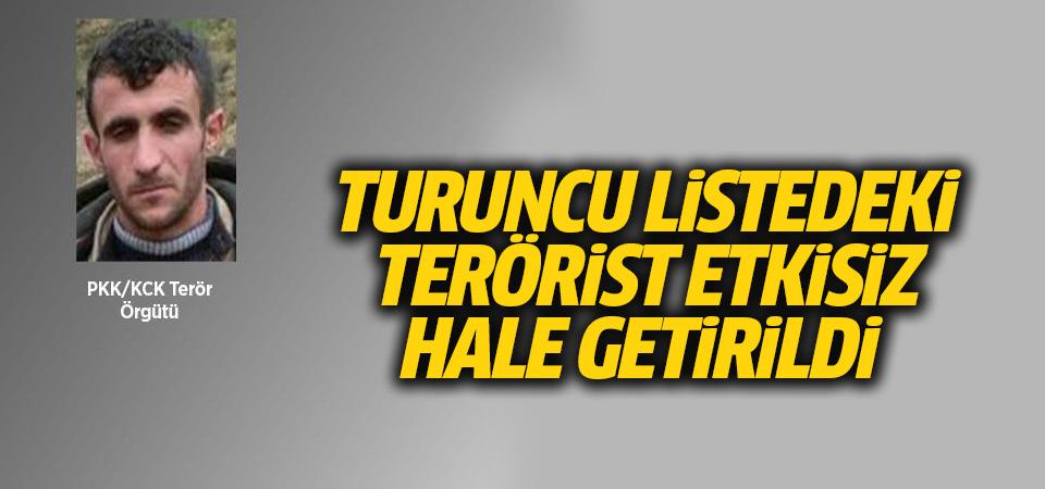 Turuncu listedeki terörist etkisiz hale getirildi