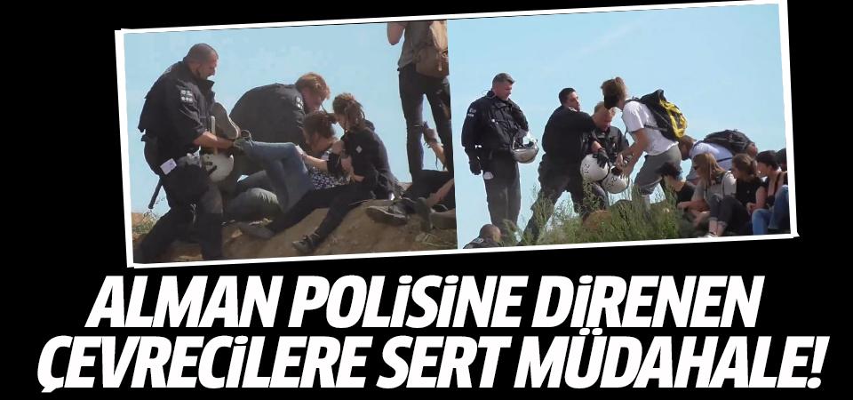 Alman polisine direnen çevrecilere sert müdahale!