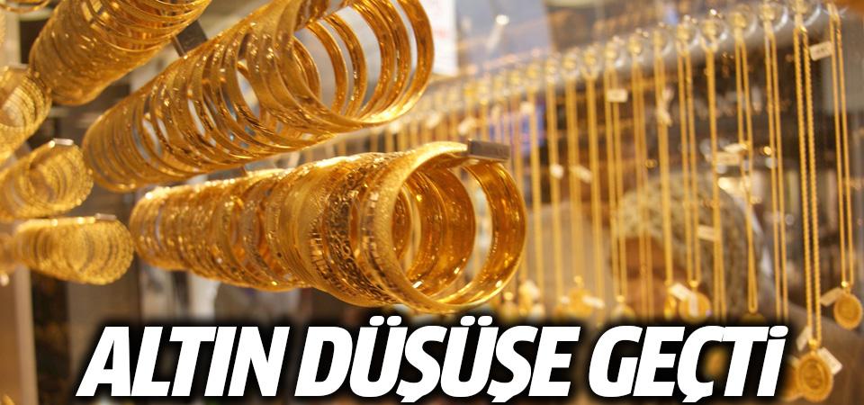 Altın düşüşe geçti çeyrek gram ne kadar son rakamlar