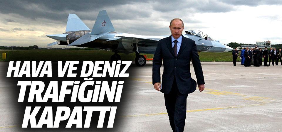 Rusya Doğu Akdeniz'de hava ve deniz trafiğini kapattı