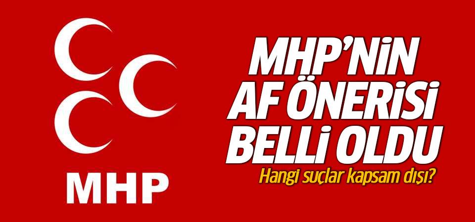 MHP'nin af önerisi belli oldu: 5 yıl indirim