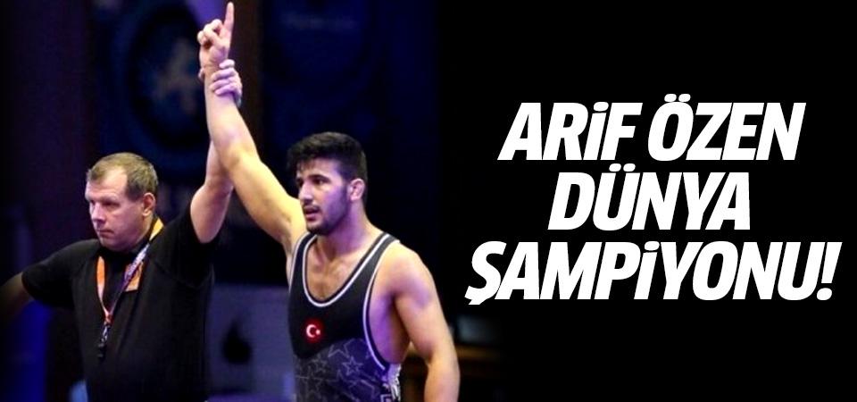 Genç güreşçi Arif Özen Dünya Şampiyonu