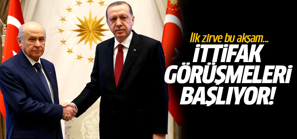AK Parti MHP ittifak görüşmeleri başlıyor