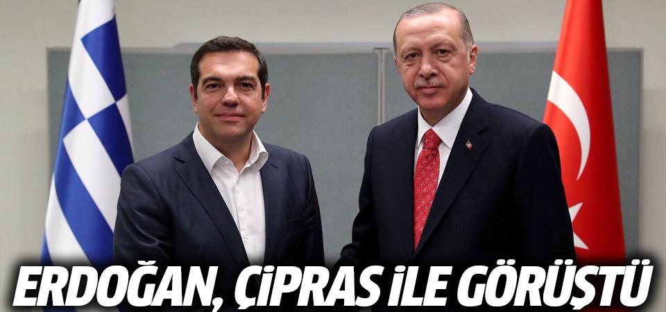 Erdoğan Çipras ile görüştü