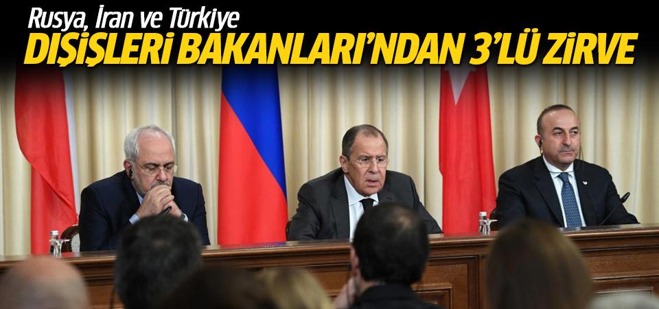 Rusya, İran ve Türkiye dışişleri bakanlarından BM'de 3'lü zirve