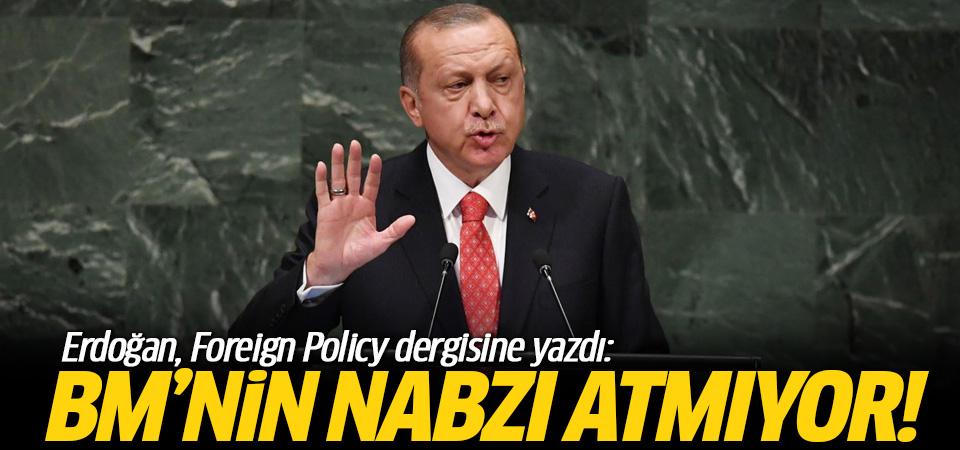 Başkan Erdoğan'dan BM'nin yapısı için makale