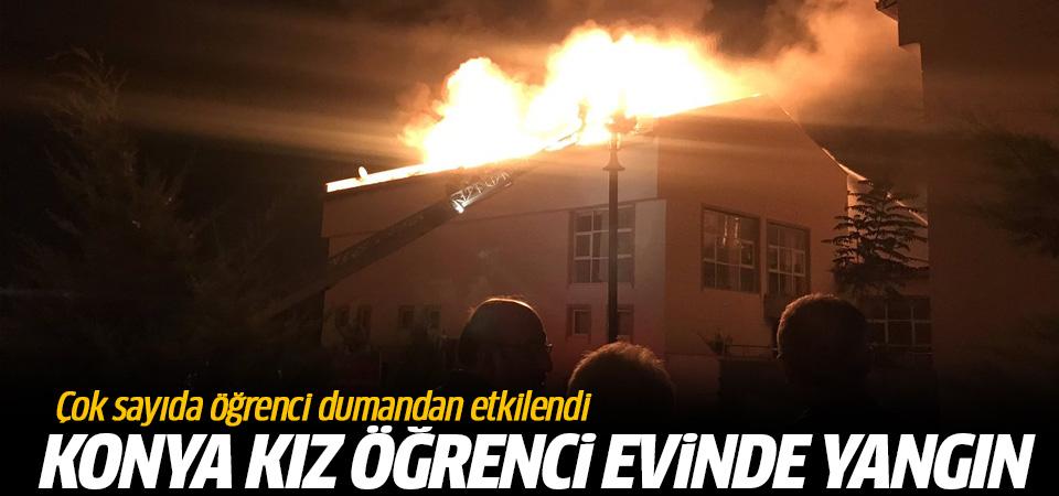 Konya'da kız yurdunda yangın