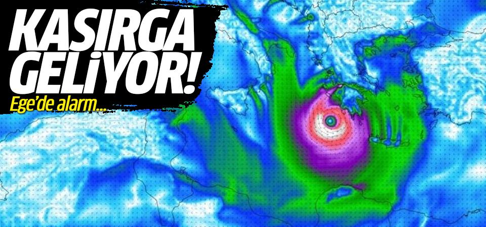 Kasırga geliyor! Ege'de alarm...