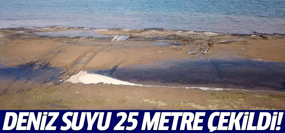 Deniz suyu 25 metre çekildi!
