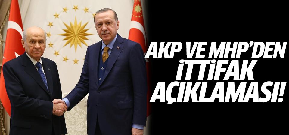 AK Parti ve MHP'den ittifak açıklaması!