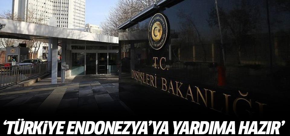 'Türkiye, Endonezya'ya yardıma hazır'