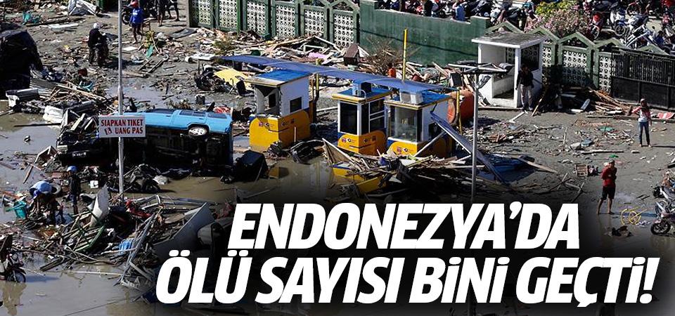 Endonezya'da ölü sayısı bini geçti
