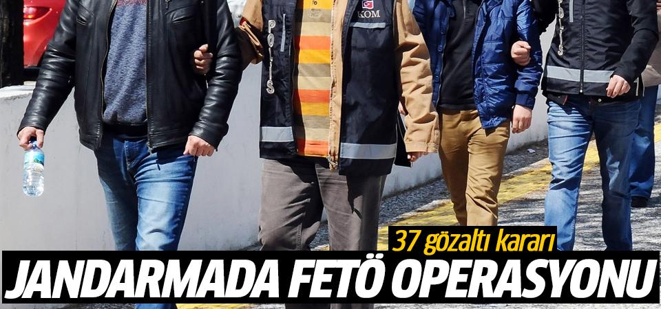 Jandarmada FETÖ operasyonu: 37 gözaltı kararı