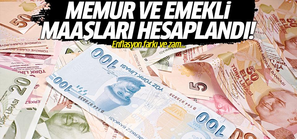 Memur ve emekli maaşları hesaplandı! Enflasyon farkı ve zam...