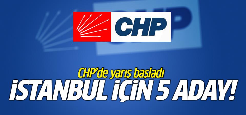İstanbul için 5 aday! CHP'de yarış başladı