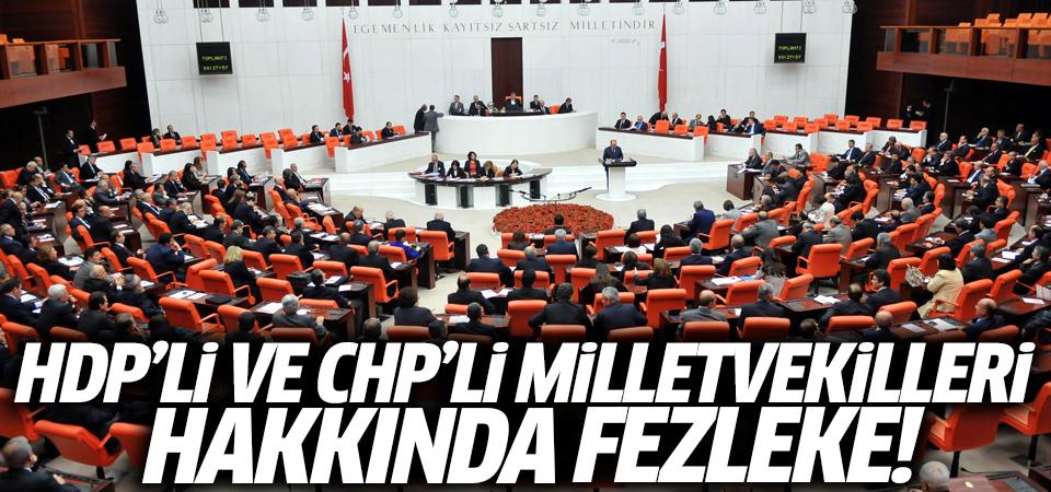 HDP'li ve CHP'li milletvekilleri hakkında fezleke!