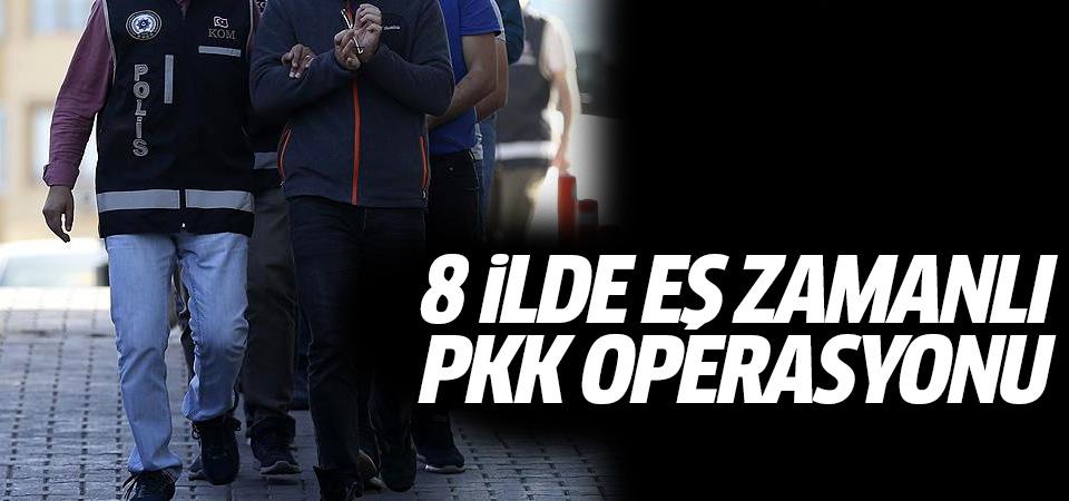 8 ilde eş zamanlı PKK operasyonu: 90 gözaltı