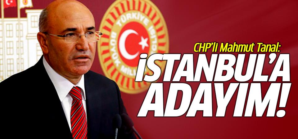 CHP'li Mahmut Tanal: İstanbul'a adayım!