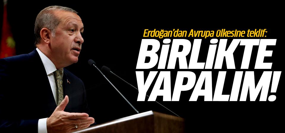 Erdoğan'dan Avrupa ülkesine teklif: Birlikte yapalım!
