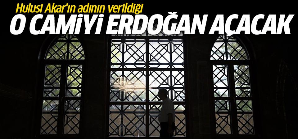 Hulusi Akar'ın adının verildiği Camiyi Cumhurbaşkanı Erdoğan açacak