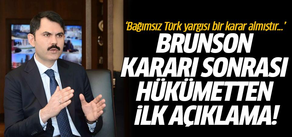 'Bağımsız Türk yargısı bir karar almıştır...' Brunson kararı sonrası hükümetten ilk açıklama!