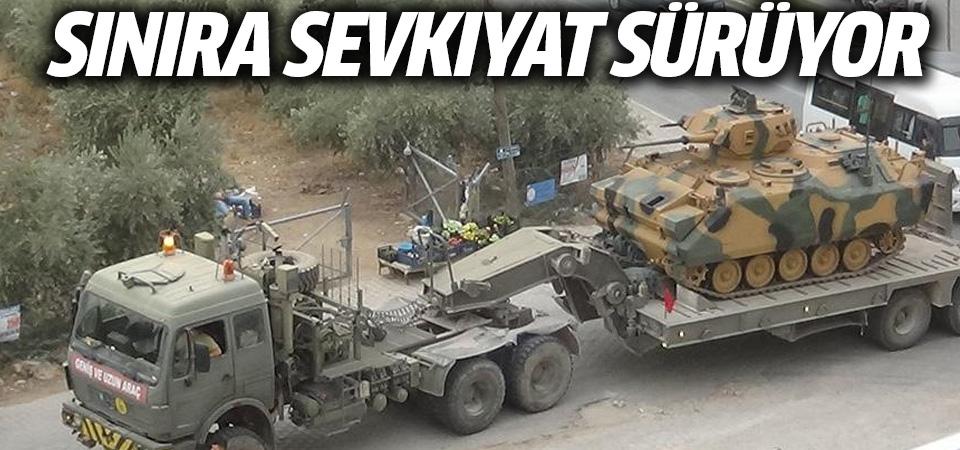 Hatay sınırına askeri araç sevkıyatı