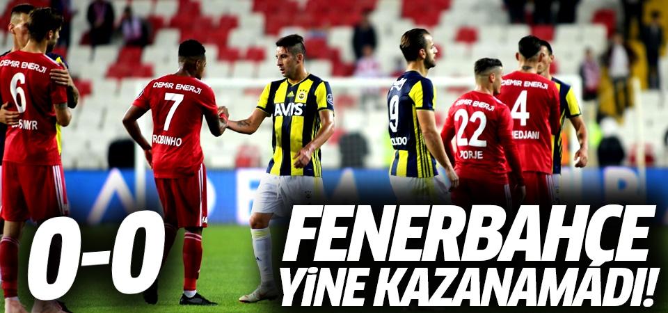 Fenerbahçe yine kazanamadı! 0-0