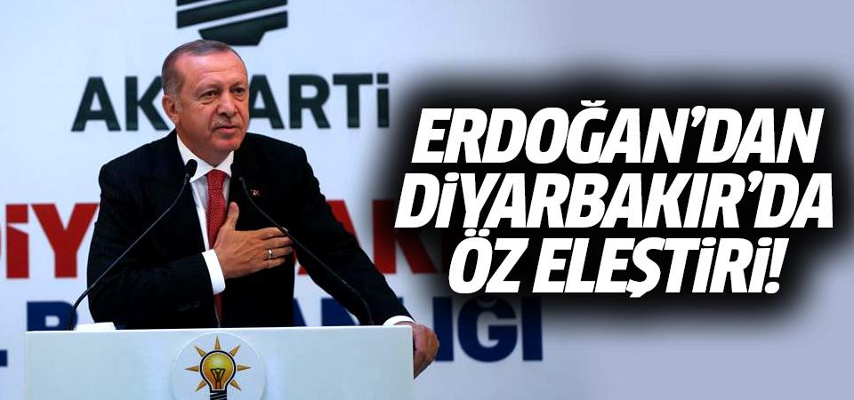 Erdoğan'dan Diyarbakır'da öz eleştiri: Arzu ettiğimiz sonuca ulaşamadık