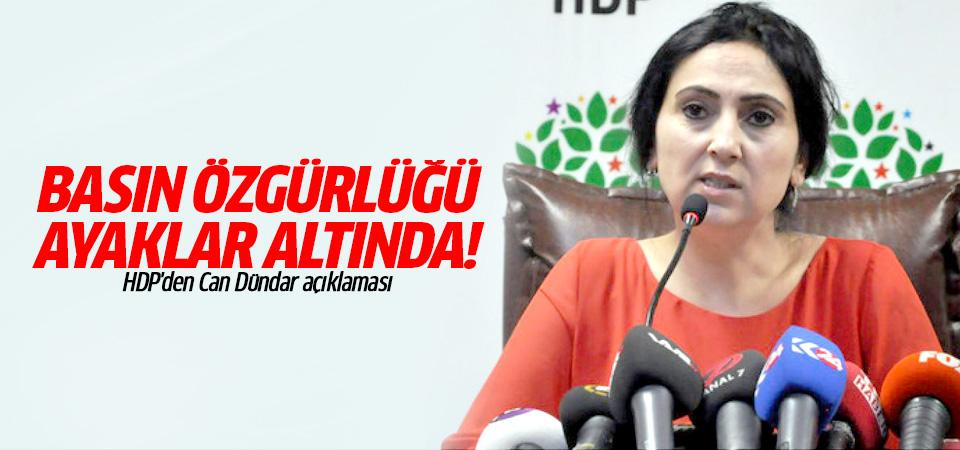 HDP'den Can Dündar açıklaması