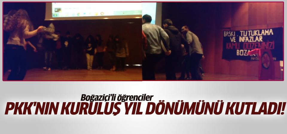 Boğaziçi'li öğrenciler PKK'nın kuruluş yıldönümünü kutladılar