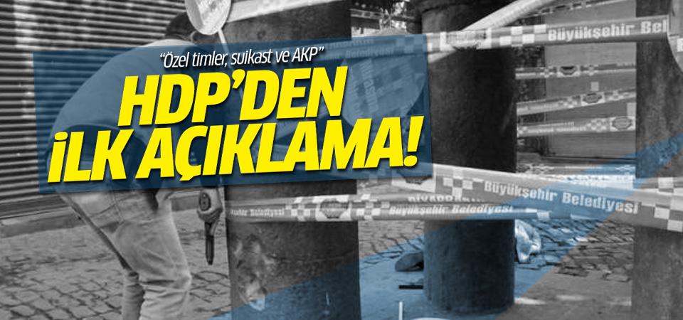 HDP'den Tahir Elçi için açıklama!