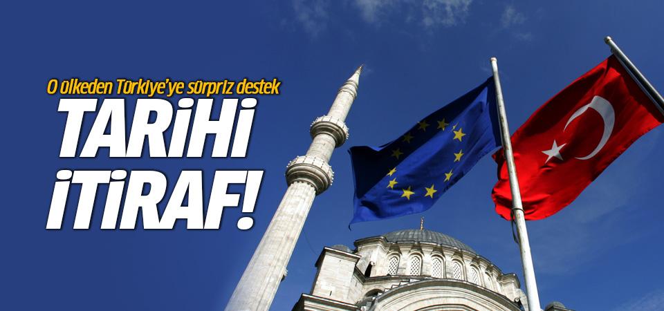 İtalya'dan Türkiye'ye sürpriz destek