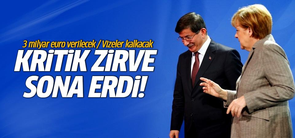 Kritik Türkiye-AB zirvesi sona erdi