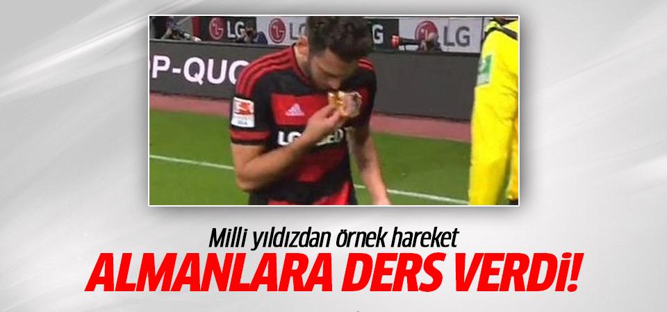 Hakan Çalhanoğlu Almanlara ders verdi!