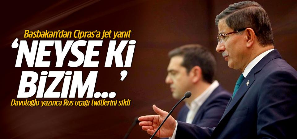 Çipras Twitter'da ihlalleri eleştirdi, Davutoğlu cevap verdi