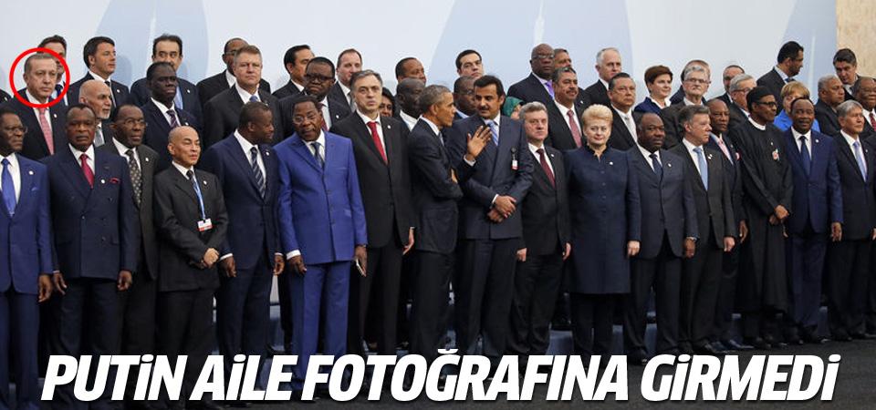 Putin İklim Zirvesi'ndeki aile fotoğrafına katılmadı