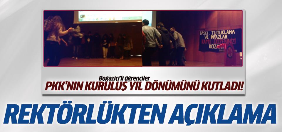 Boğaziçi Üniversitesi'nden PKK'nın yıldönümü kutlaması için açıklama