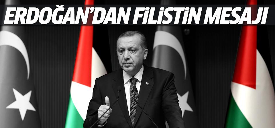 Cumhurbaşkanı Erdoğan'dan Filistin için mesaj