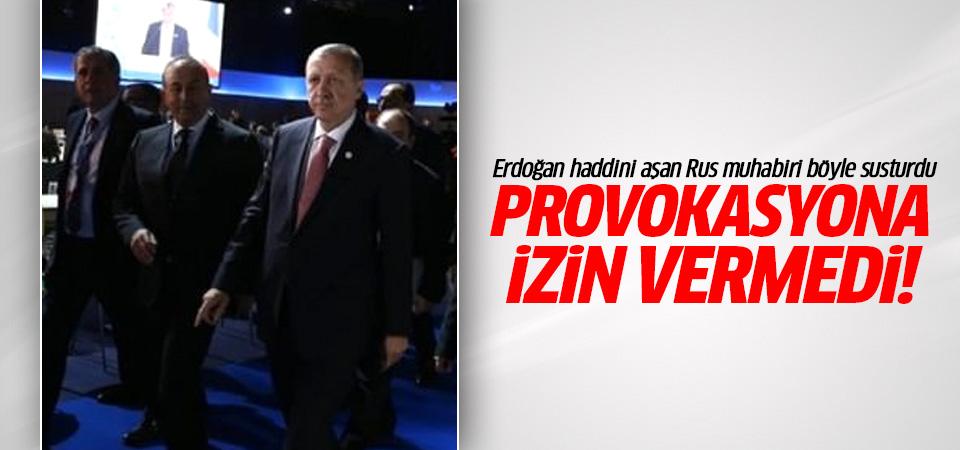 Erdoğan haddini aşan Rus muhabiri böyle susturdu!