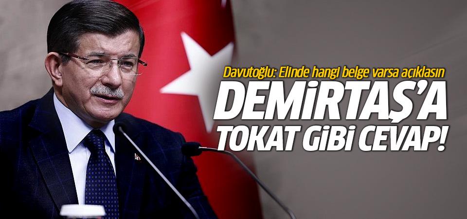 Davutoğlu'ndan Demirtaş'a sert tepki!