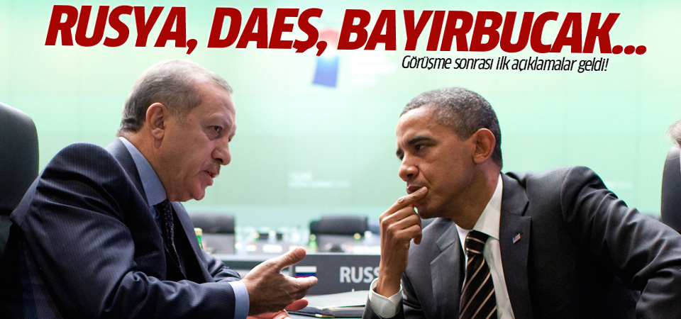Erdoğan Obama görüşmesi bitti! İlk açıklama geldi...