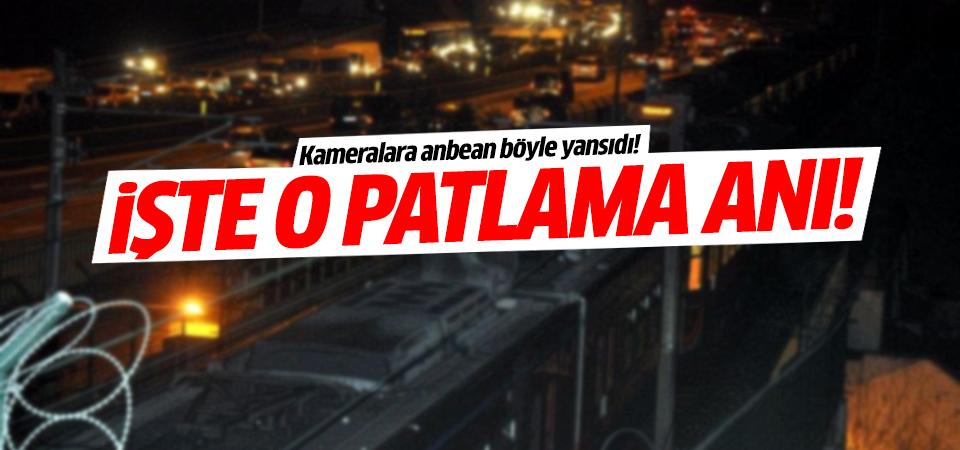 İşte Bayrampaşa'daki patlama anı!