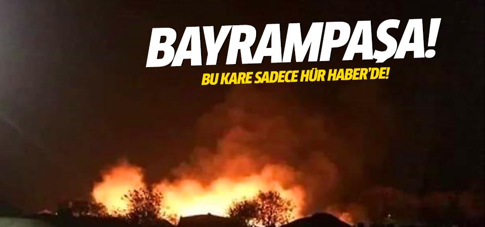Bayrampaşa patlama anı özel foto! Sadece Hür Haber'de