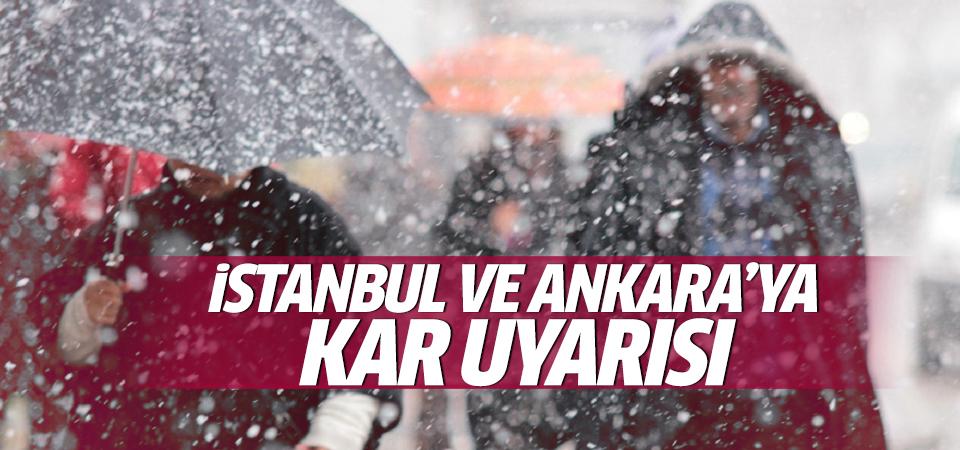 Meteoroloji'den İstanbul ve Ankara'ya kar uyarısı!