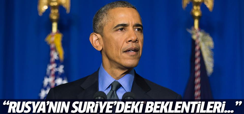 Obama: Rusya'nın Suriye'deki beklentileri...