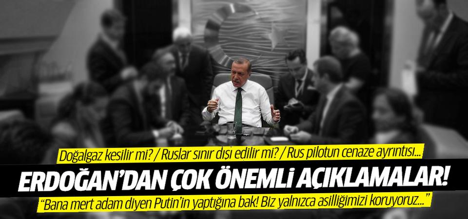 Erdoğan'dan Rusya krizine yönelik önemli açıklamalar