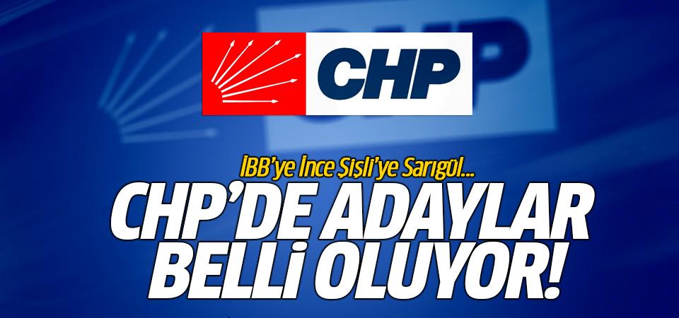 CHP'de adaylar belli oluyor!
