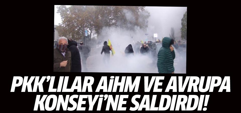 PKK'lılar Avrupa Konseyi ve AİHM'ye saldırdılar…
