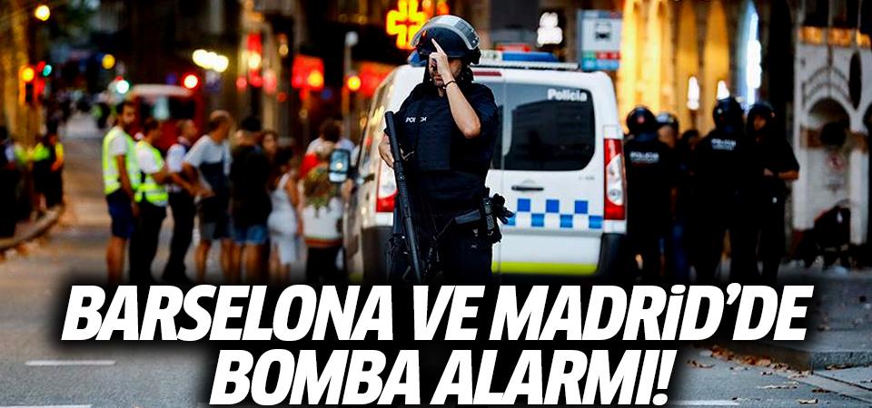 Barselona ve Madrid'de bomba alarmı!